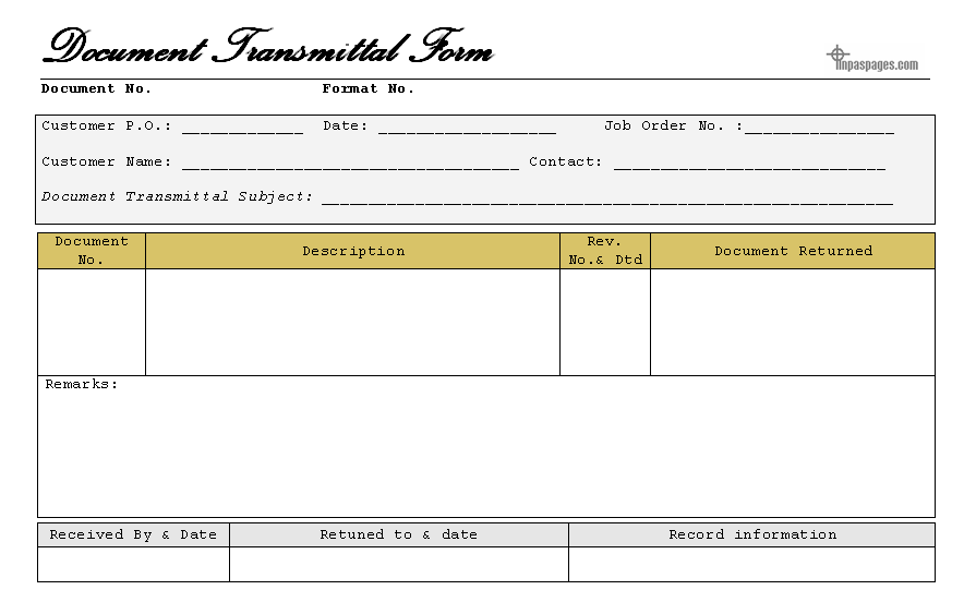 DocumentTransmittalFormPng   Office Templates