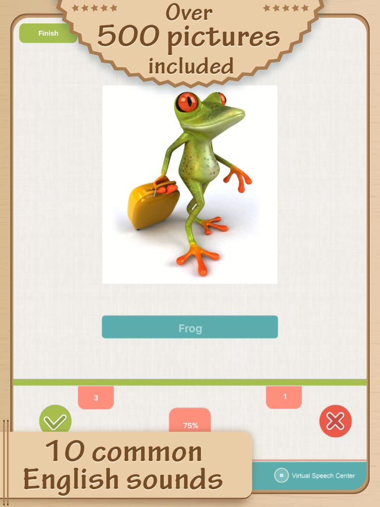 Free Articulation App from Virtual Speech Center http