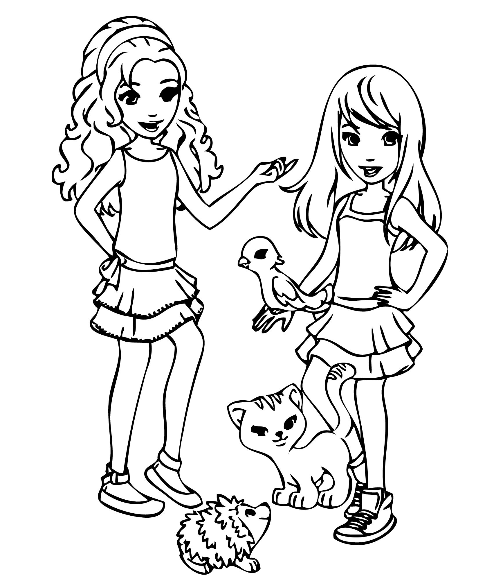 lego coloring pages friends - Google Search | Adriene\'s Birthday ...