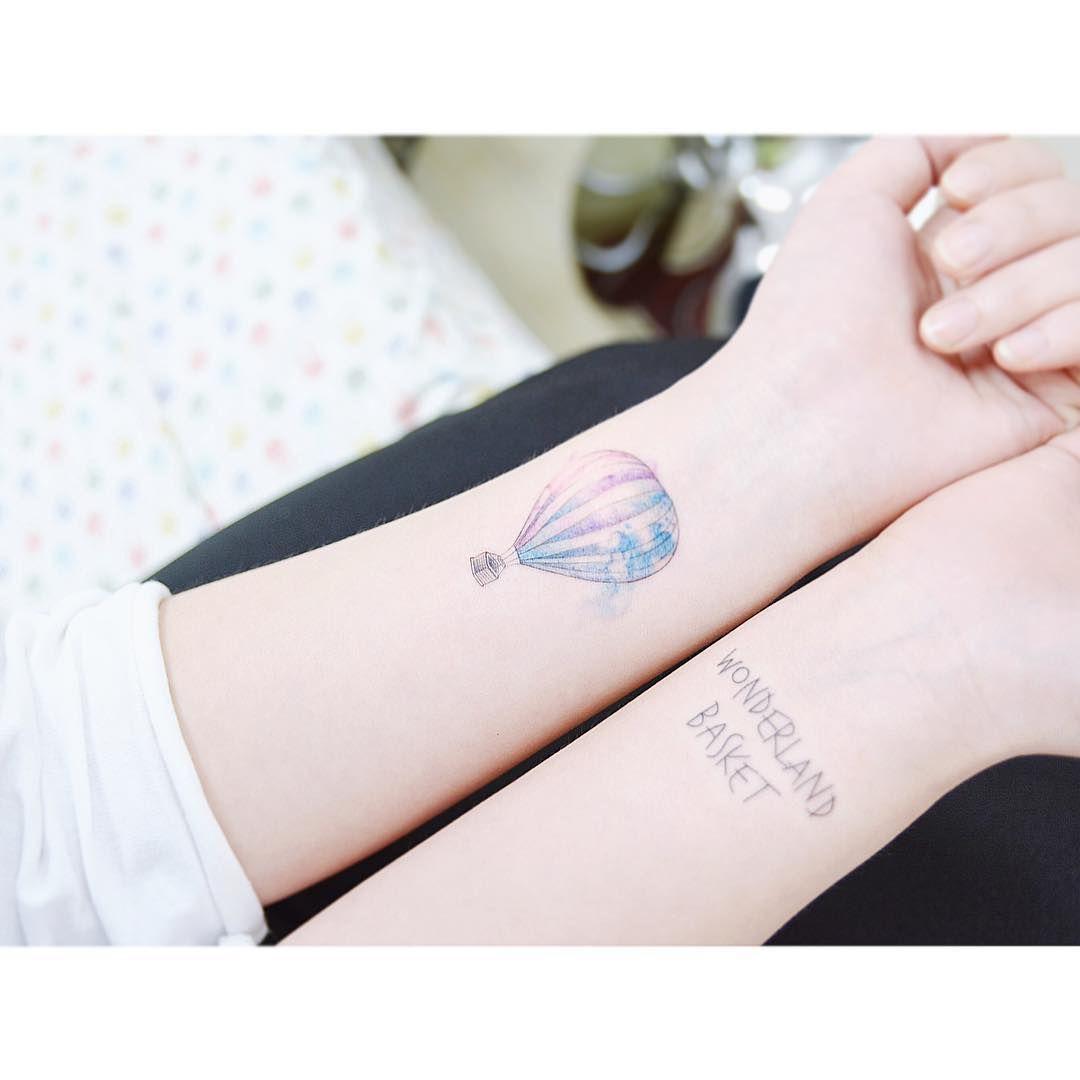 Tattooist Banul Hot Air Balloon Tattooistbanul Tattoo