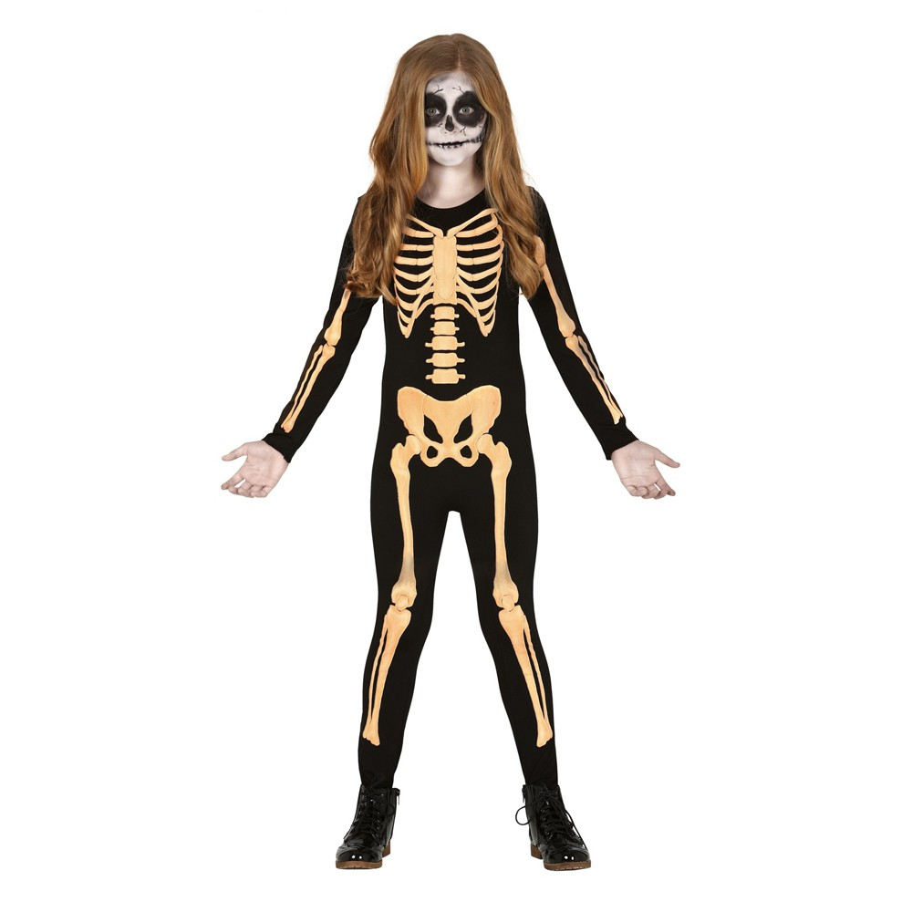 Enfants Filles Crâne Jour des morts robe fantaisie Squelette Costume Halloween