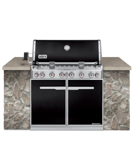 Summit E 660 Built In Gas Barbecue Black Built In Grill Outdoor Kitchen Design Grilling