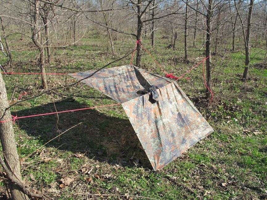 9 Different Military Poncho Survival Shelter Configurations u2013 | Tarpology | Pinterest & 9 Different Military Poncho Survival Shelter Configurations ...