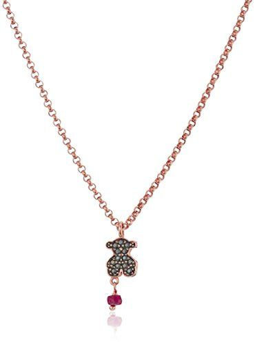 TOUS Jewelry Vermeil Necklace Extender Rose Drop and Gold