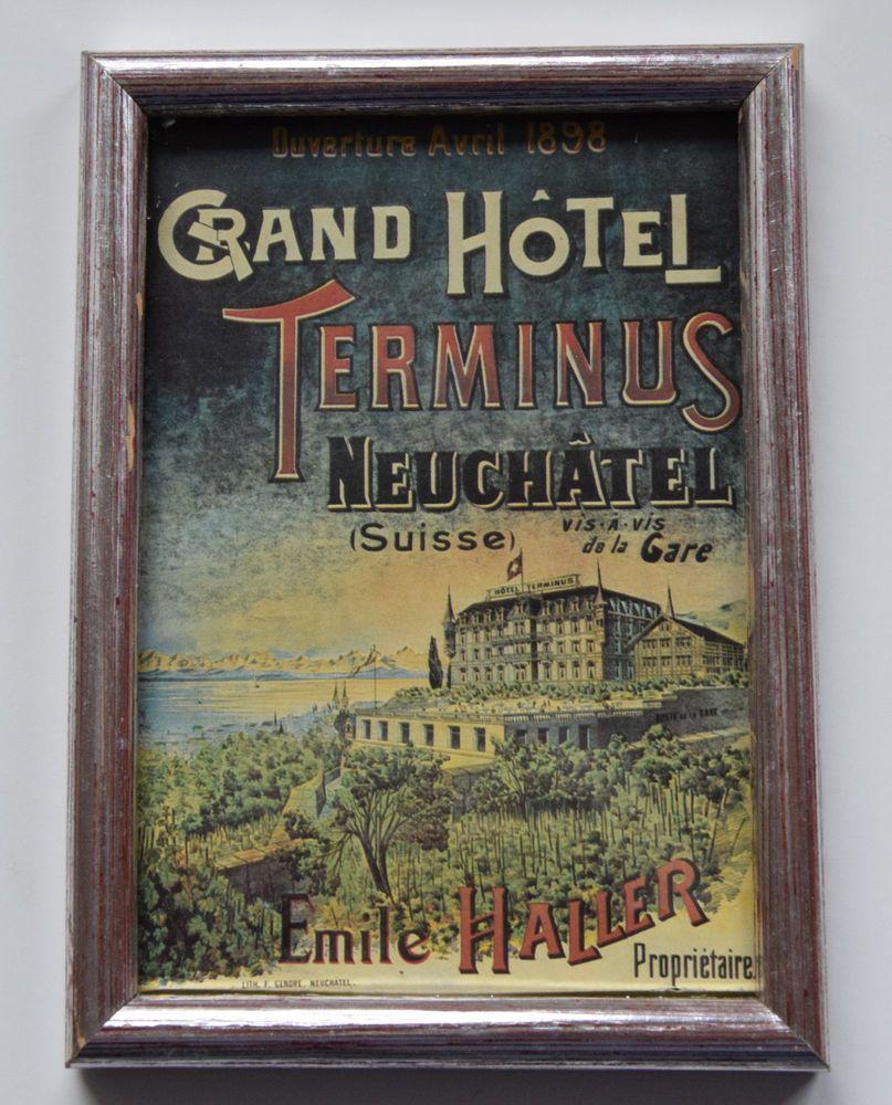 Details zu Vintage Fotorahmen mit Hotel Druck Bilderrahmen ...