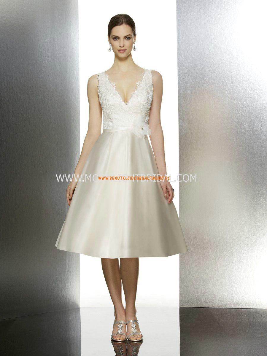 Moonlight Moderne Süße Knielange Brautkleider aus Taft mit ...