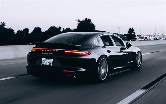 Black Porsche Wallpaper Download Wallpapers Panamera 2017 Turbo Sport Sedan Picture HD Free
