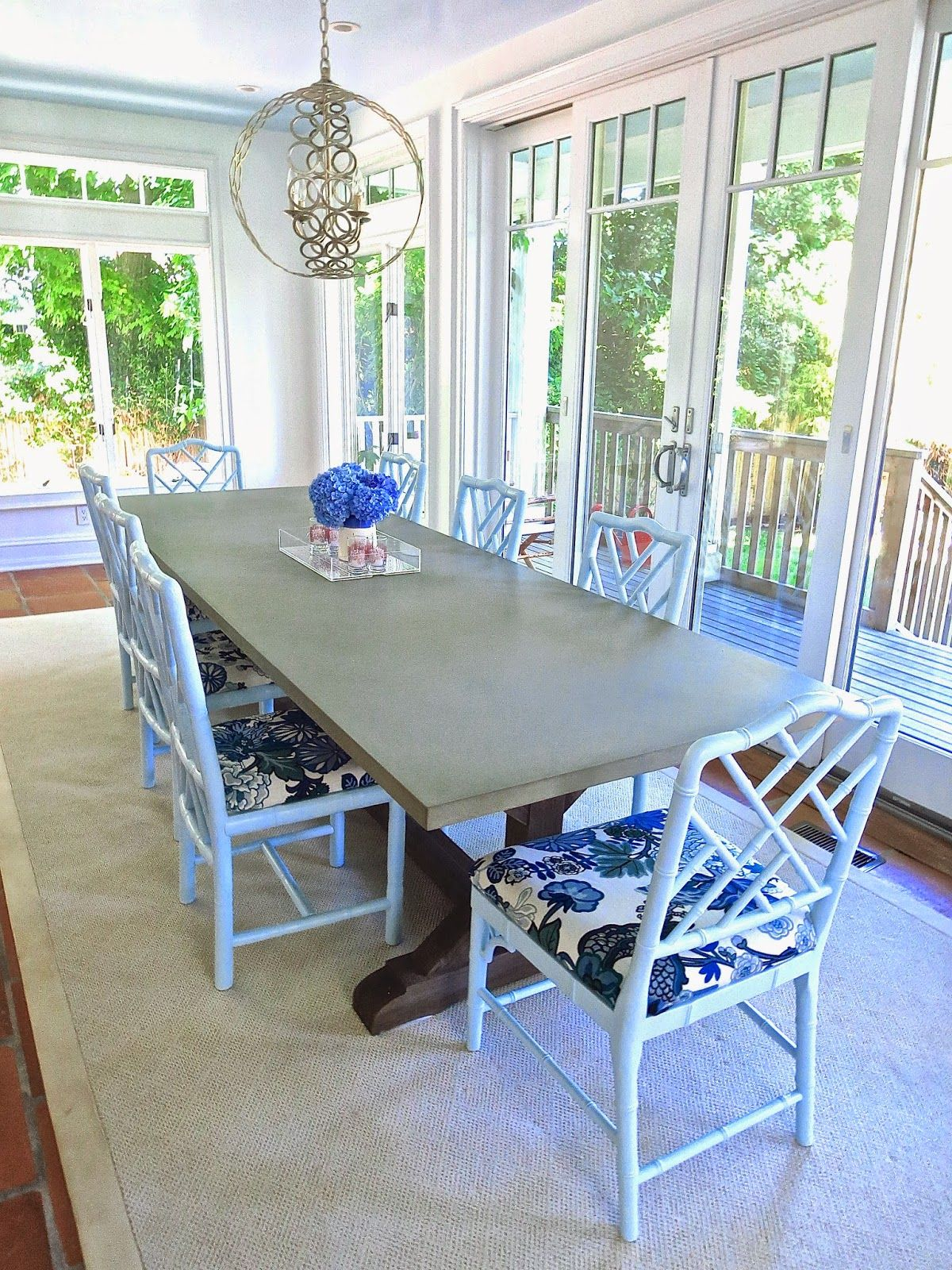 my best friend s east hampton dining room light blue chippendale