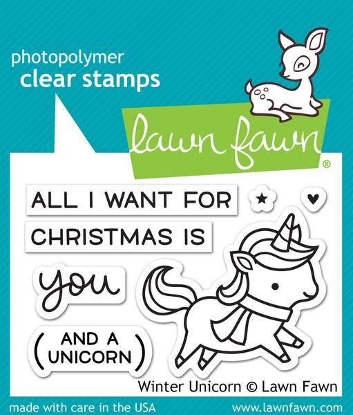 Leimasetti, Lawn Fawn, Winter Unicorn