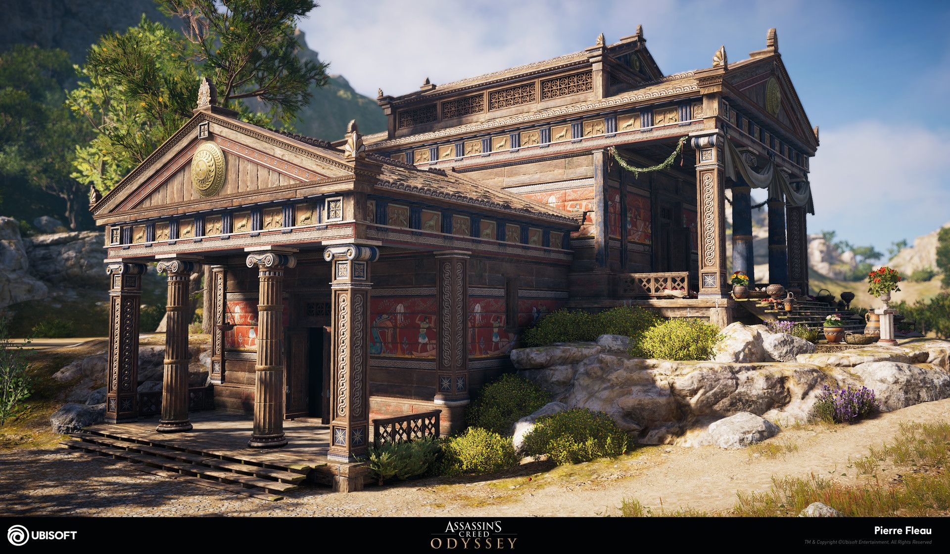 Artstation Assassin S Creed Odyssey Wood Temples Texturing