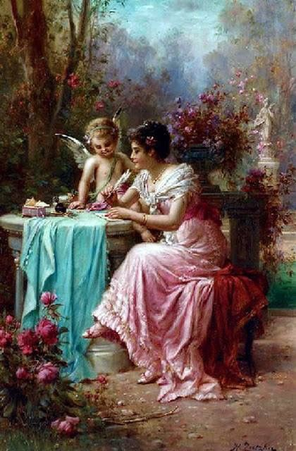 An Angel at My table Hans Zatzka