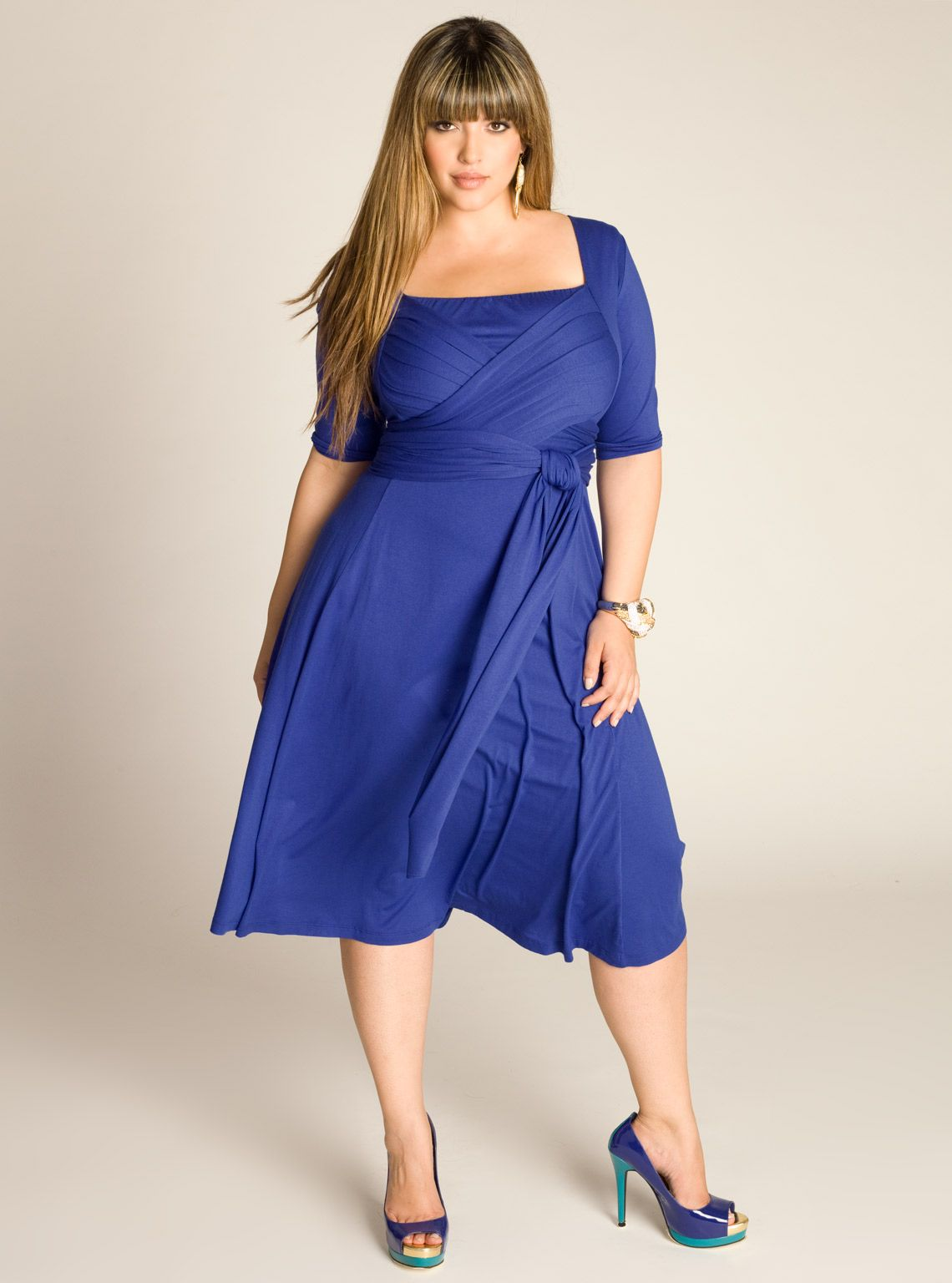 IGIGI Plus Size Tiffany Dress in Dazzling Blue   Plus Size Chic ...