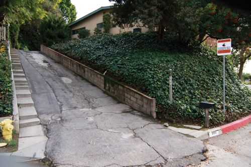 Great Solution For Steep Driveways Add Steps Landscape Architecture Front Yard Driveway