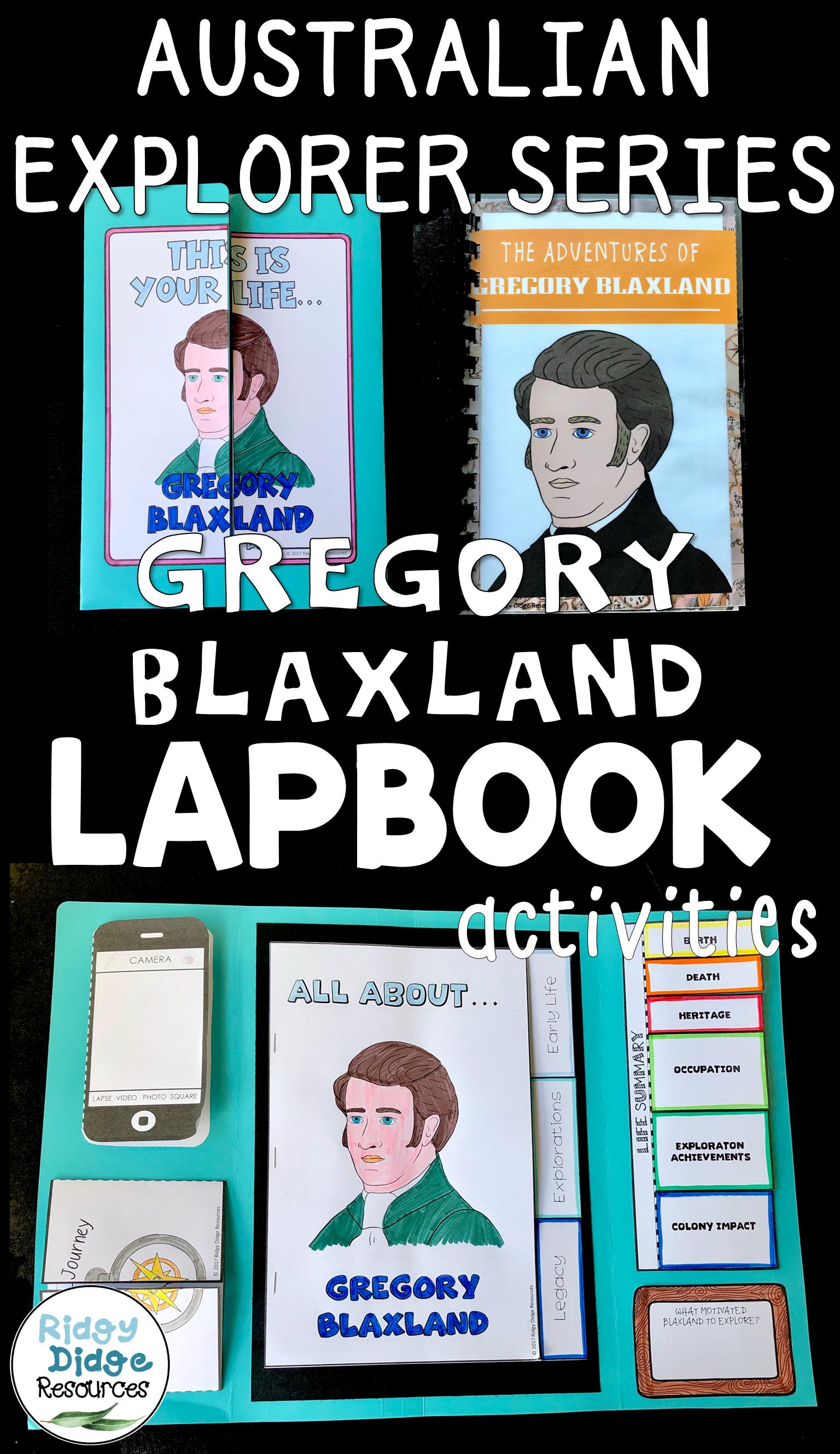 Gregory Blaxland Australian Explorers Lapbook Series