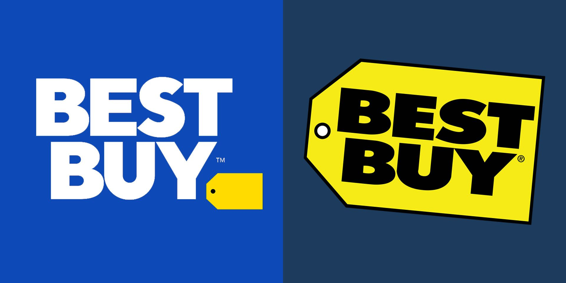 Best Buy logo gets updated (mostly, on the left) by their in-house creative team.