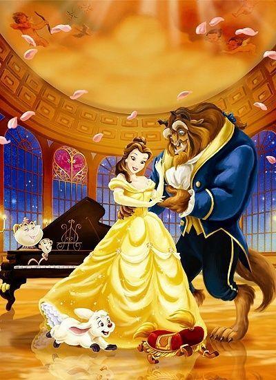 ディズニーカップル 美女と野獣のイラスト♡ もっと見る