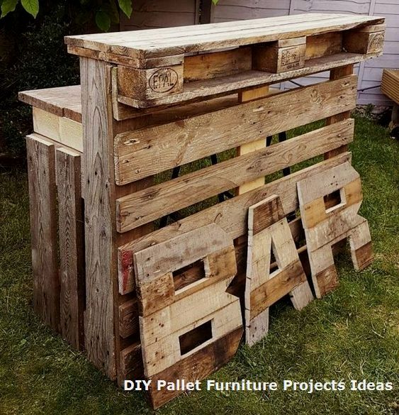 10+ Unique Wood Pallet Project Ideas That Are Easy… #oldpalletsforcrafting