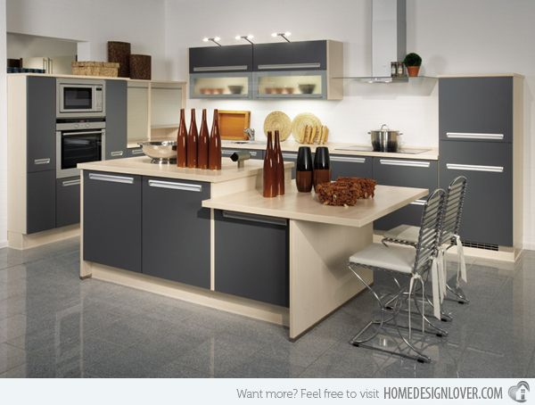 15 Unique And Modern Kitchen Island Designs  Modern Kitchen Awesome Modern Kitchen Island Design Design Ideas