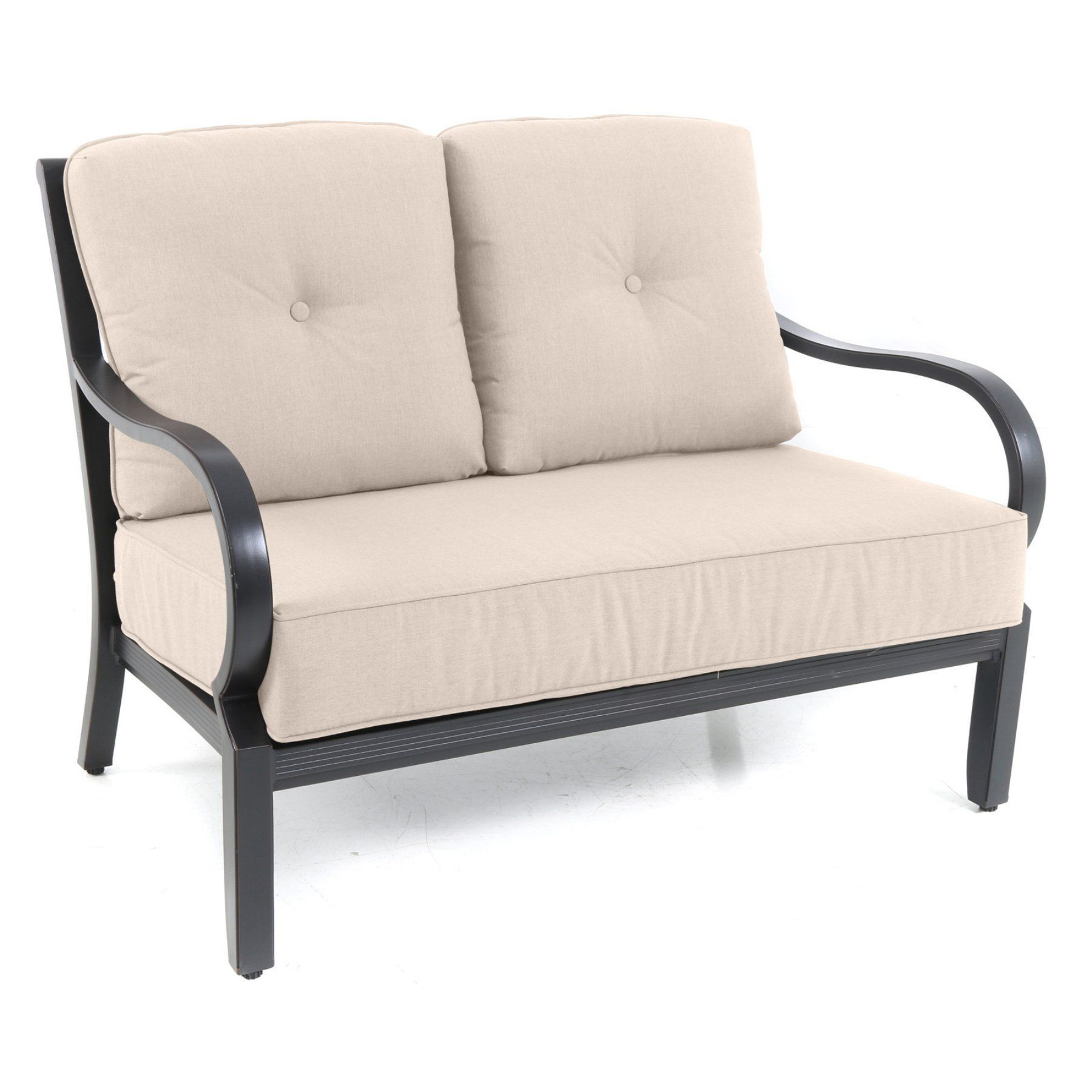 Royal Garden Laurus Aluminum Outdoor Patio Loveseat with Cushion