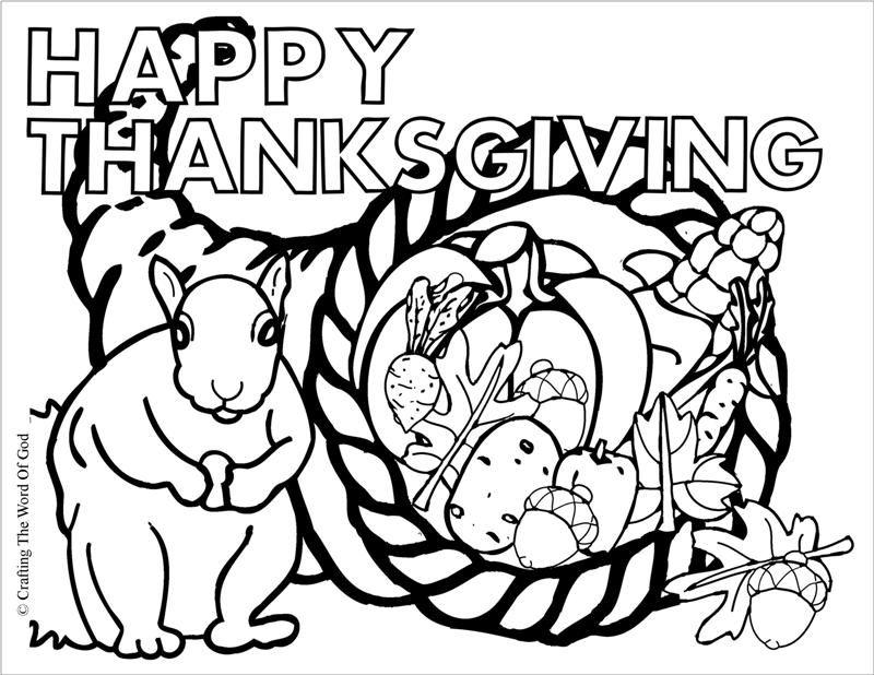Thanksgiving Cornucopia- Coloring Page | Thanksgiving Crafts | Pinterest