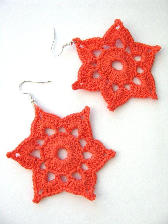 Earrings Pattern, Crochet Earrings Pattern, Two Crochet Patterns ...
