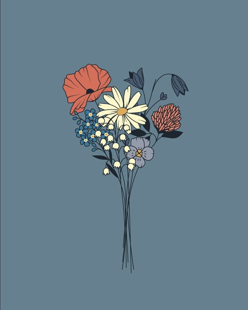 Happy Midsummer Glad Midsommar Blue Wallpaper Iphone Art Prints Art Wallpaper