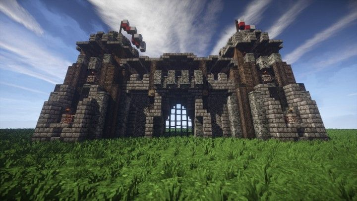 minecraft gate. Fine Gate Veriaelu0027s  Medieval Gate  Castle Download Minecraft Project To