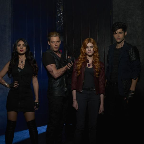 Character portraits of Izzy, Jace, Clary, and Alec. The Shadowhunter crew, 11/30/15