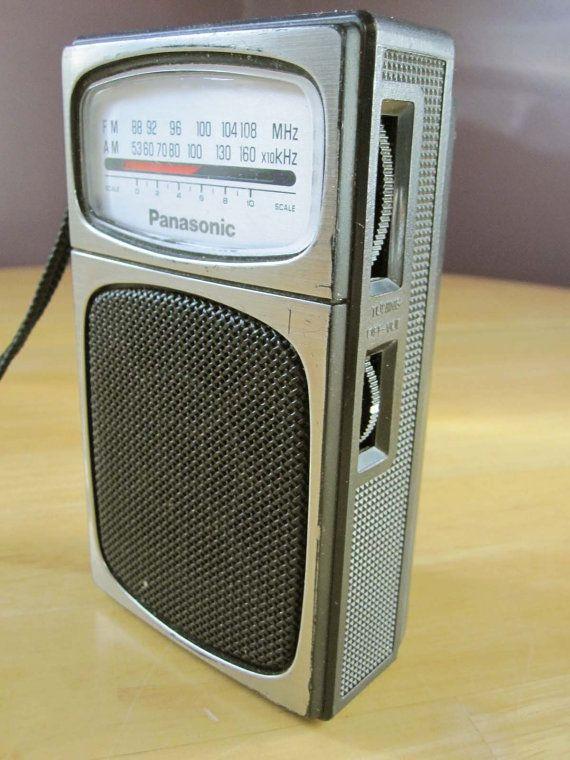 Fun Panasonic Rf504 Transistor Portable Radio From By Retromama65 20 00 Transistor Radio Vintage Radio Old Radios