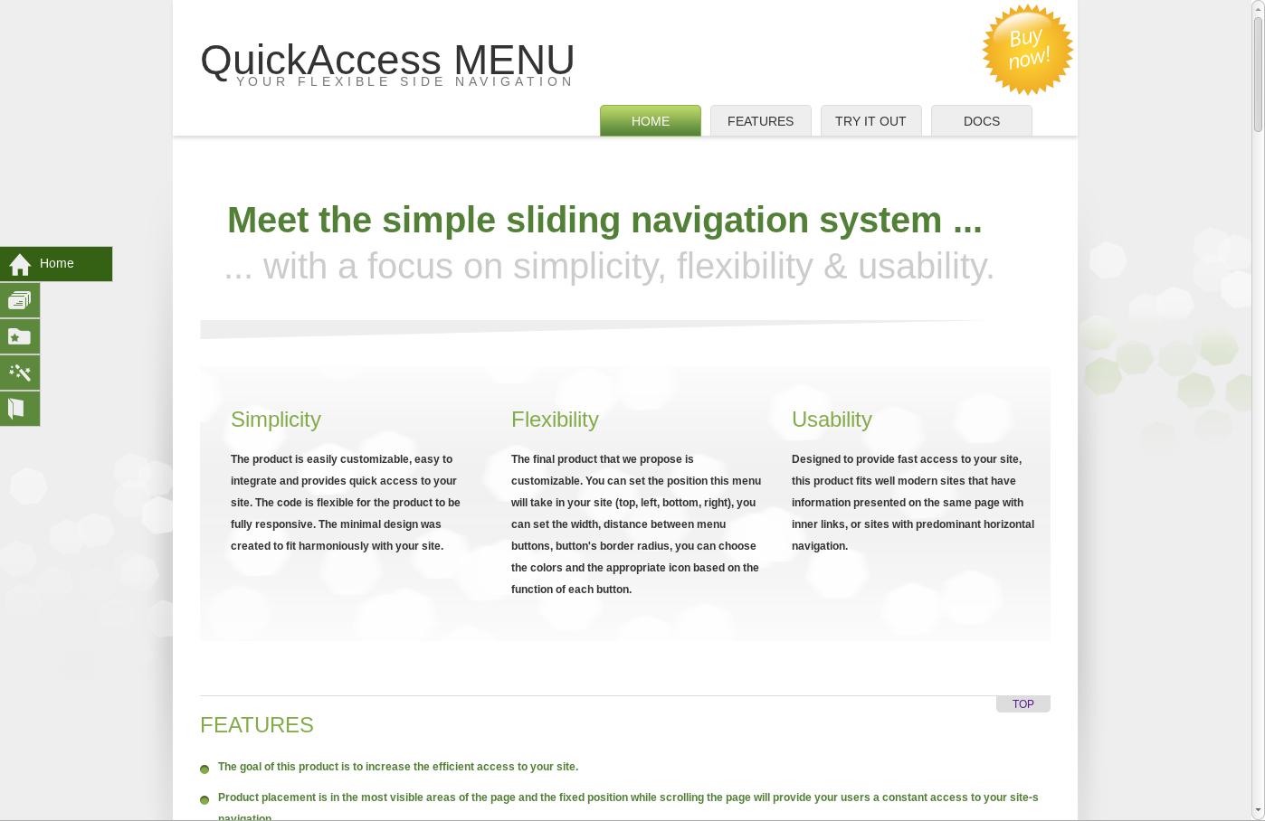 Quickaccess Menu Menu Minimal Design Simplicity