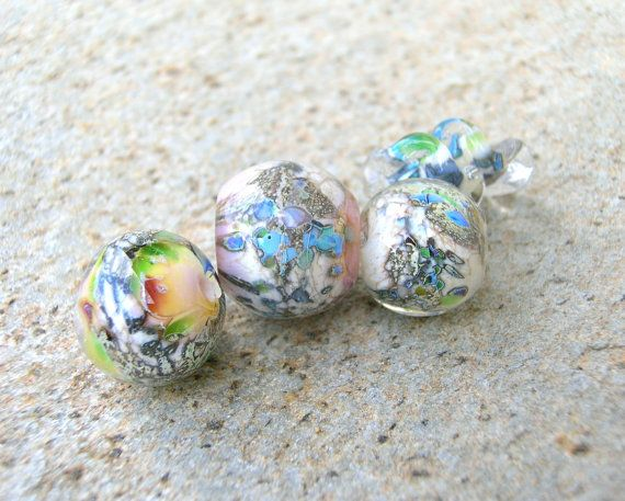 Lampwork Beads Craft Supplies Coral Wind Autumn by CandanImrak, $27.00
