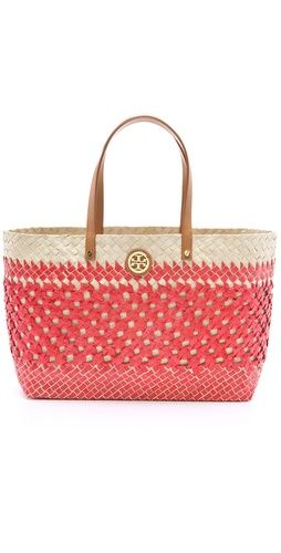 7b759164170f Tory Burch straw tote. Hamptons lunch from TopShelfClothes.com