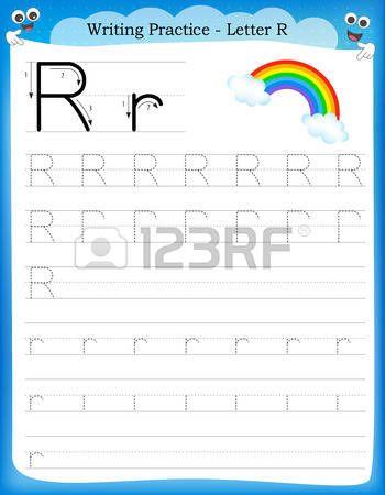Escribiendo la pr ctica letra R hoja de trabajo imprimible con im ...