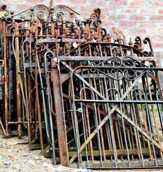 Gorgeous Aluminum Fencing Ideas for Your Backyard Dream to find all these beautiful antique wrought iron gates, circa 1880's - Southern Accents Architectural Antiques - Dream to find all these beautiful antique wrought iron gates, circa 1880's - Southern Accents Architectural Antiques -