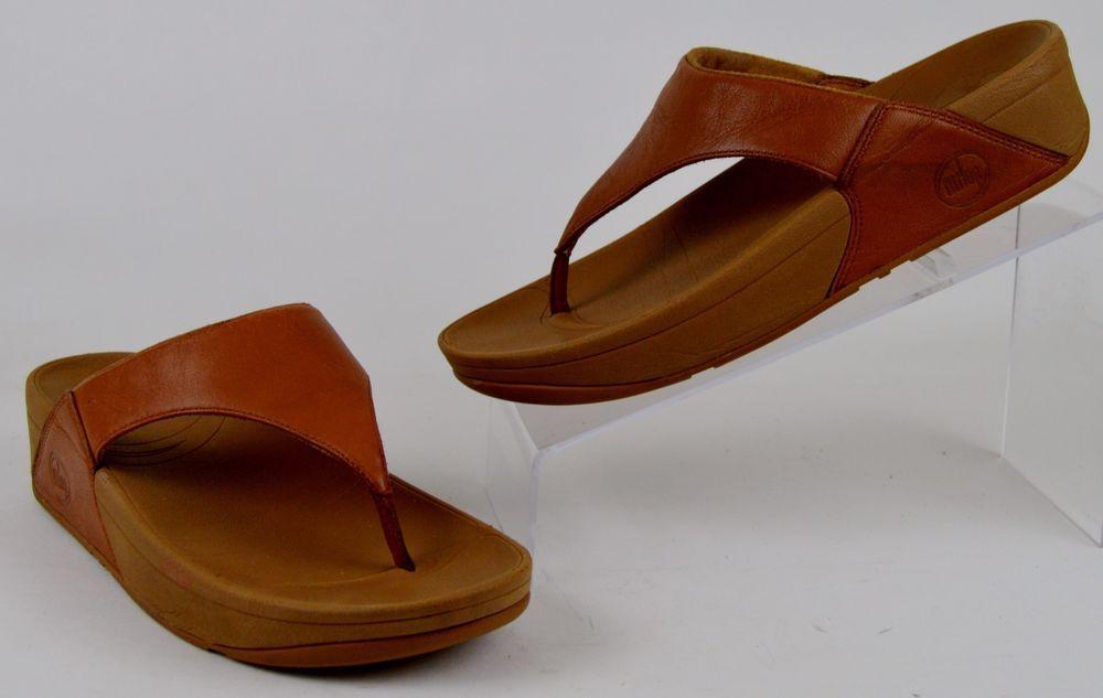 bd4392f536776 Fitflop Lulu Women's Sz 7 Toning Flip Flops Microwobbleboard Brown ...