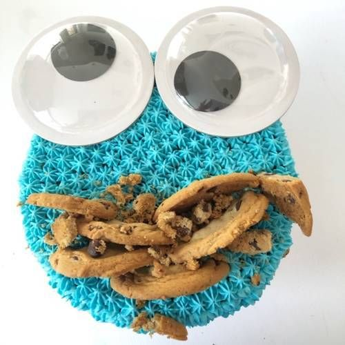 Cookie Monster Cake - COOKING