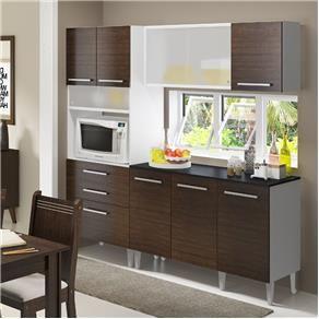 Cozinha Compacta Amy Madesa Branco X2f Tabaco Casasbahia Com