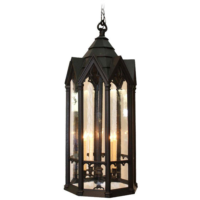 gothic lantern lighting. Neo Gothic Cast Metal Four Light Lantern | From A Unique Collection Of Antique And Modern Lanterns At Https://www.1stdibs.com/furniture/lighting/ Lanterns/ Lighting