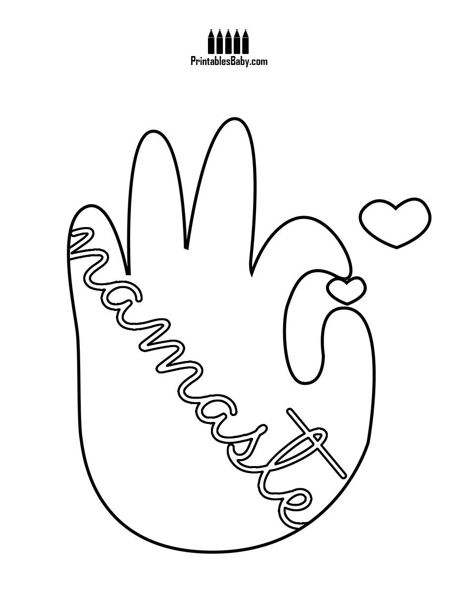 Namaste Peace Hand Printables Baby Free Printable Posters And Coloring Pages Printables Free Kids Yoga For Kids Free Coloring Pages