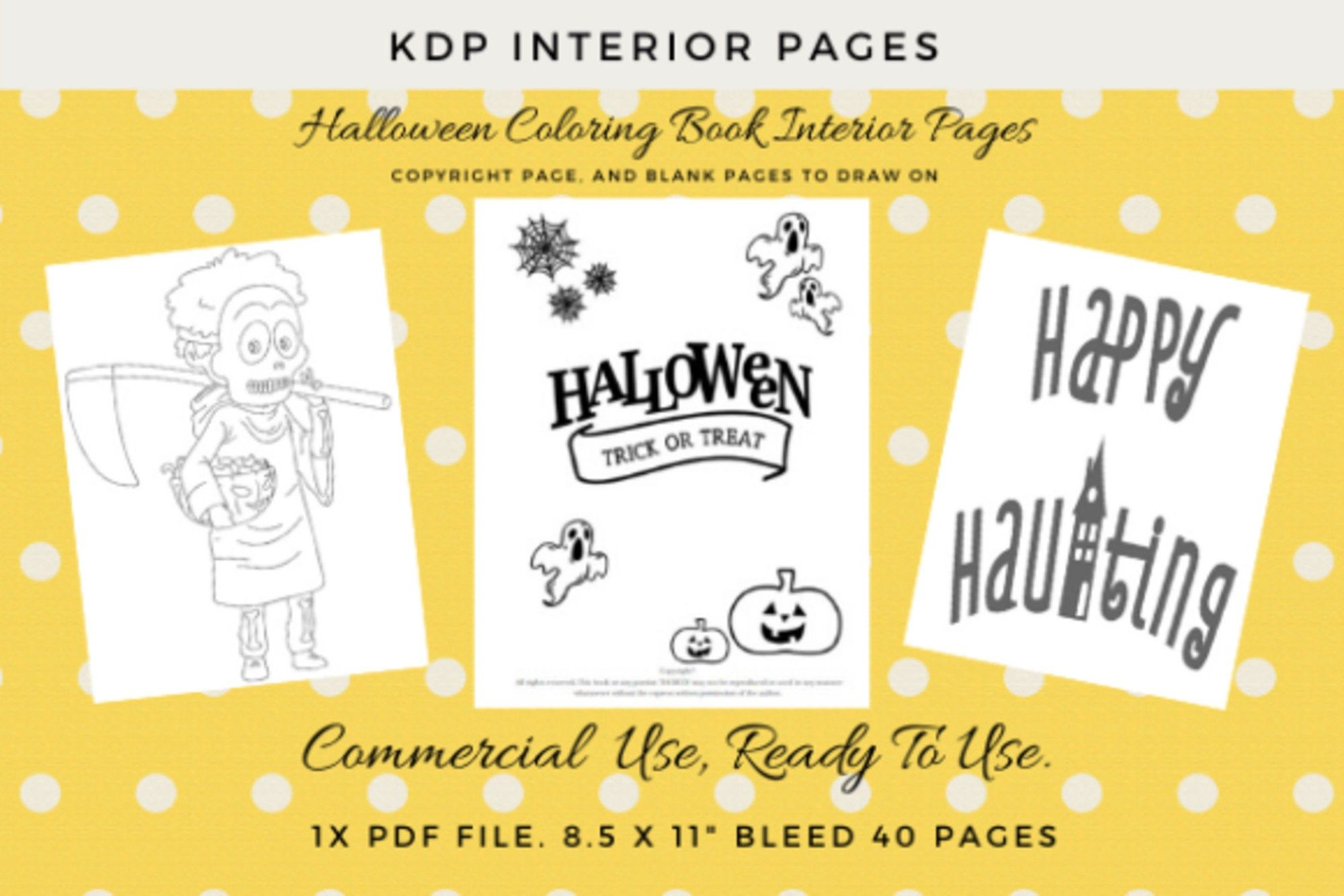 Kdp Halloween 40 Coloring Pages Kids By Preciousprintingshop On Etsy In 2020 Coloring Pages Halloween Coloring Book Halloween Coloring