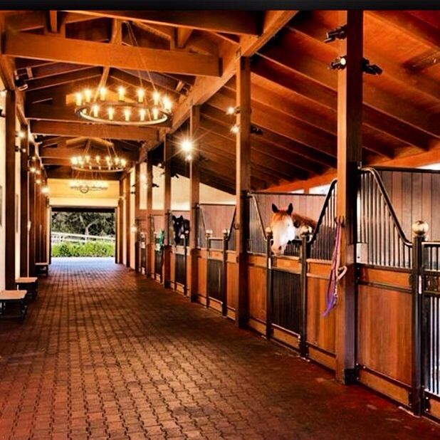 Indoor Riding Arena With Stalls: Pin By Sarah Secret On Amazing Horse Barns