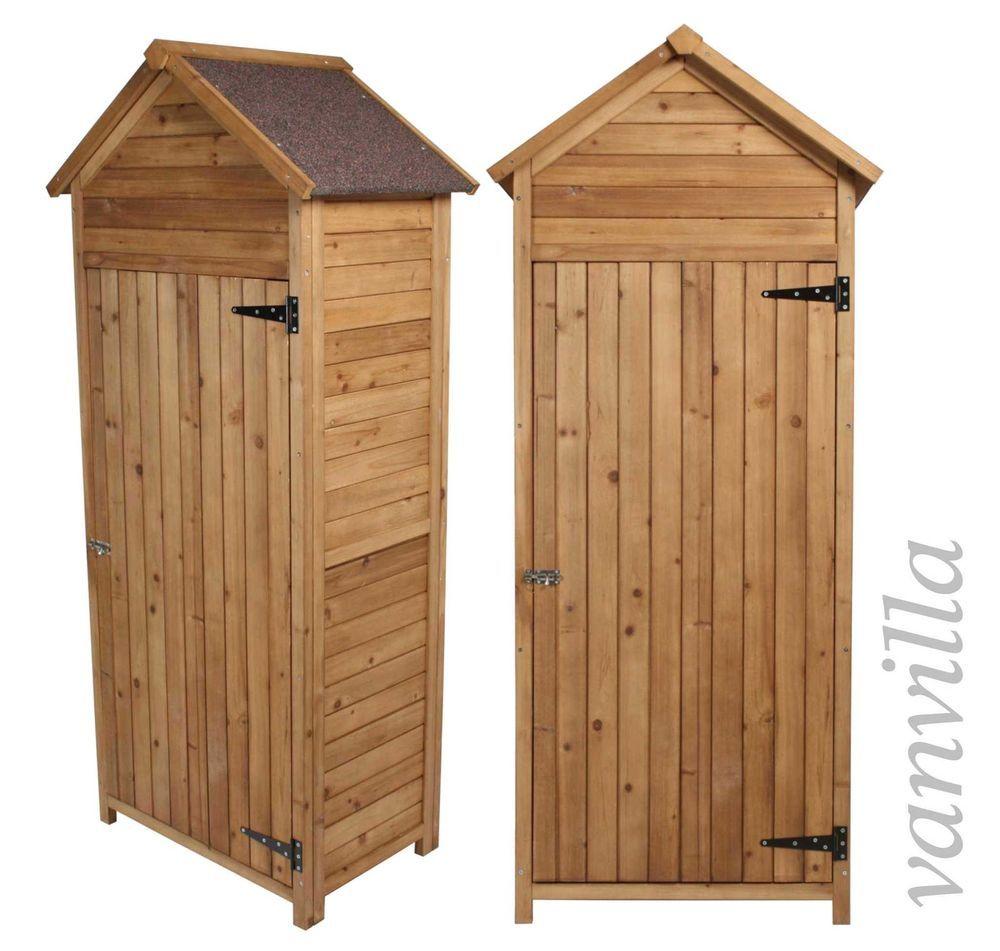 Trend Details zu vanvilla Ger teschrank Gartenschrank Ger teschuppen Satteldach Dunkel Holz