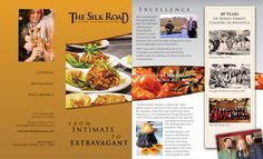 restaurant catering spices 8x14 three fold four panel brochure