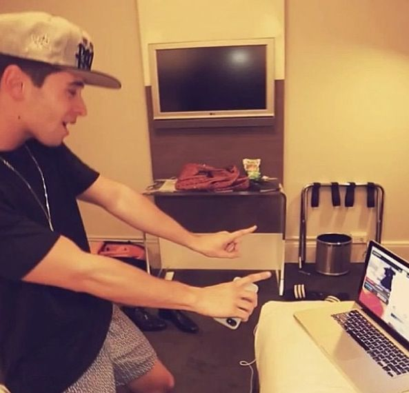 Taking his pants off on ustream