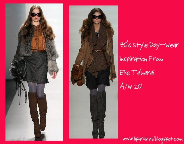 Elie Tahari concentrated more on daytime looks with earthy tones, over ...
