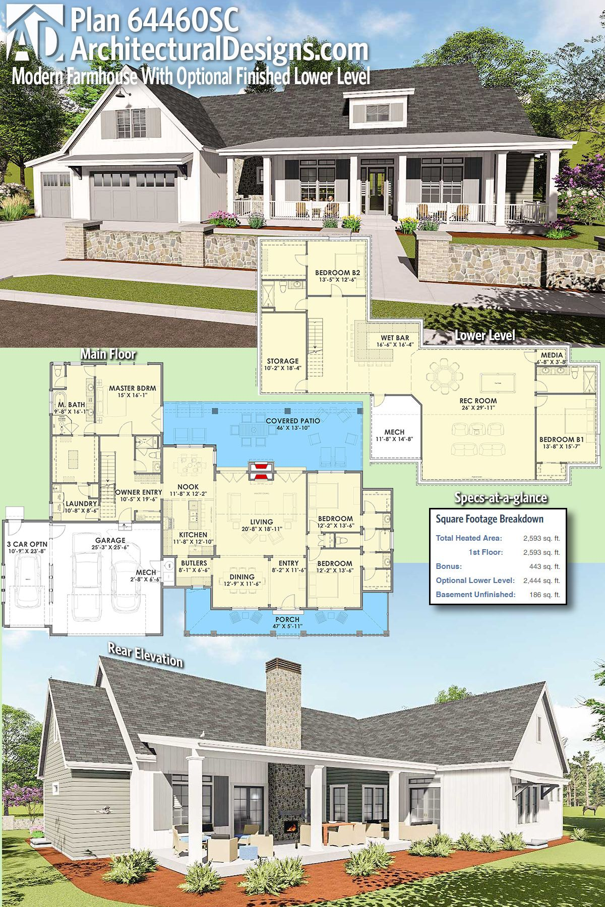 Introducing architectural designs modern farmhouse plan for Flexible house plans