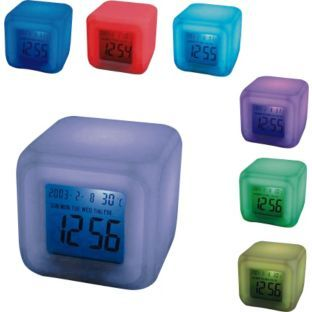 Mayhem Uk Aurora 30 Second Glow Colour Change Alarm Clock Alarm