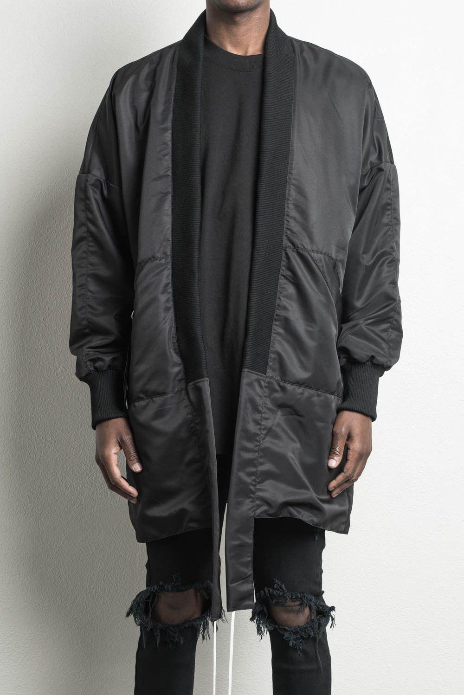 Kimono Long Bomber Black Designer Streetwear Long Kimono Bomber Jacket Designer Bomber Jacket Bomber Jacket Jackets [ 1498 x 1000 Pixel ]