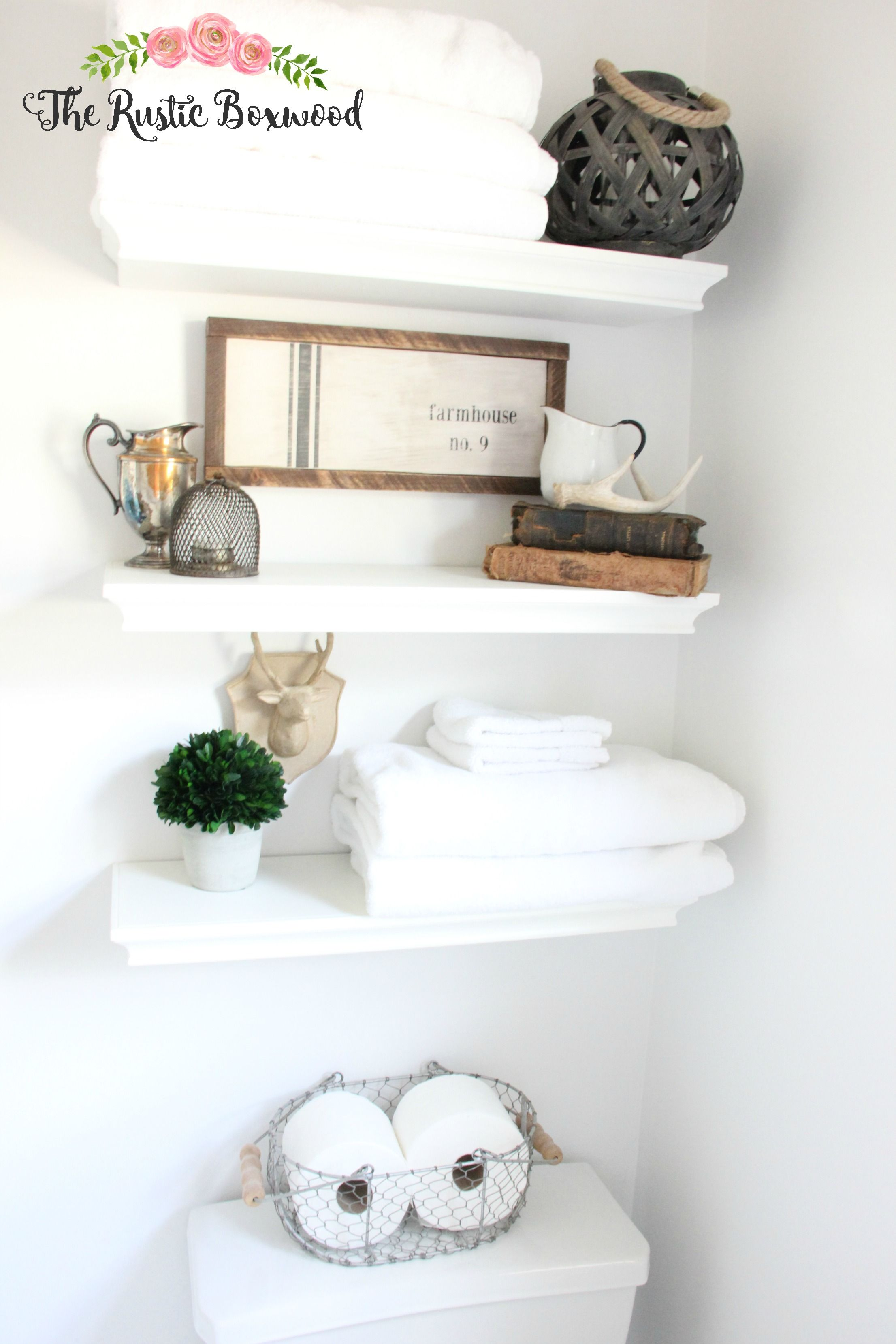 Guest Bathroom Makeover Reveal | The Rustic Boxwood blog | before ...