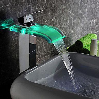 Cascade LED contemporain hydroélectrique verre Puissance grand ...